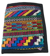 Hand Made Guatemala Wallet Mens Festival Cotton Colorful Woven Bi fold Boho