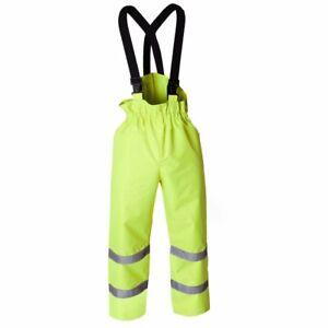 Hi Vis Waterproof FRA224HV Fire Retardent AS Arc Yellow Overtrousers C/W Braces