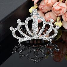 Lady Girl Rhinestone Hair Comb Headband Tiara Crown Wedding Prom Pageant Party