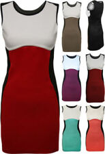 Polyester Regular Size Dresses for Women with Colour Block
