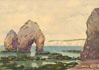 G. Gore-Edwards - Early 20th Century Watercolour, Freshwater Bay, Isle of Wight