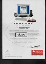 NORTHWEST AIRLINES BOEING 747-400 1997 SCREEN SAVER WORLD WEB COMPUTER AD