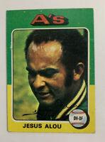 1975 Jesus Alou # 253 Topps Baseball Card Oakland Athletics A's