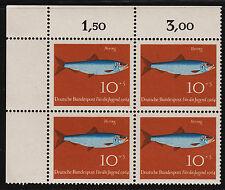OPC 1964 Germany Fish Sc#B396 Mi#412 Corner Margin Block MNH VF