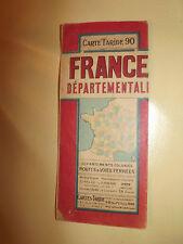 Carte taride N°90 france departementale  2eme trimestre 1945 *