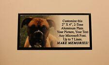 "FULL COLOR PET MEMORIAL CUSTOM 2""x4"" ALUMINUM Tag Plaque Dog Cat"
