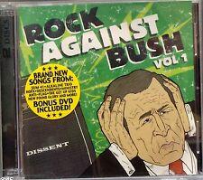 Various Artists - Rock Against Bush, Vol. 1 + DVD (CD 2004) Punk Compilation
