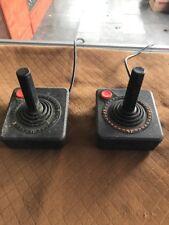 Atari Joysticks Set Of 2 Used Black Wired