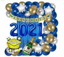 2021 Graduation Party Supplies Decorations Foil Balloons Star Banners colorful