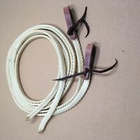 "Rein, Split - 5/8"" x 8' - Waxed Nylon with Water Ties - 1 Pair (E468)"