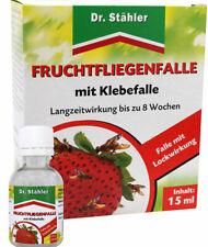 Dr Stähler Fruchtfliegen Falle gegen Frucht Obst und Essigfliegen mit Klebefalle