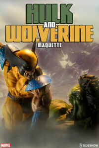 Sideshow HULK AND WOLVERINE MAQUETTE ~~FACTORY SEALED~~BRAND NEW~~