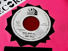 MARY WELLS~ NEVER NEVER LEAVE~ RARE PROMO~ VG++~ PROMO~~ NORTHERN SOUL 45