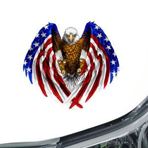 Bald Eagle USA American Flag Sticker Car Truck Laptop Windows Decal Bumper Decor