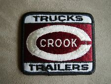 Vintage Trucks Crook Trailers Embroidered Iron On Patch Semi Diesel Rigs Old