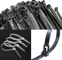 Nylon Releasable Plastic Cable Ties Extra Large Zip Ties Black White Green wrap