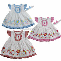 NWT newborn infant baby girl dress 3 piece set clothing outfit size 3 6 9 months