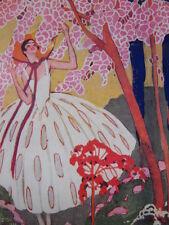 Buvard et Illustration Aux Galeries Lafayette 1922 Les fleurs Domergue Desportes