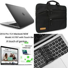 "[For 15.4"" Macbook Pro A1707] Rubberized Hard Case+Multi-Pocket Laptop Bag+Film"