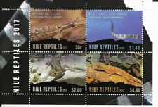 NIUE 2017 Reptiles Mini Sheet of 4 MINT NH