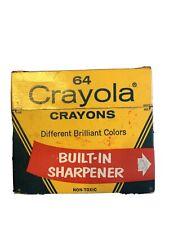 Vintage No. 64 Crayola Crayons. Sharpener. Discontinued Color Indian Red