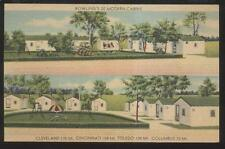 Postcard NEW CALIFORNIA Ohio/OH  Rowlings Tourist Cabins/Cottages view 1930's
