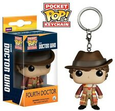 Doctor Who 4th Fourth Doctor Pocket Pop! Keychain. Brand New. UK Seller.