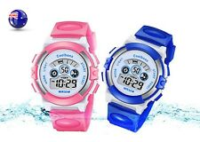 Girl Boy Children Kid Teen Sports LED Digital Waterproof Alarm Wrist Watch 3-15y