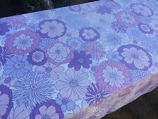 Vintage 1970s Flower single Sheet Fabric,ideal for dressmaking112cm by 125 cm