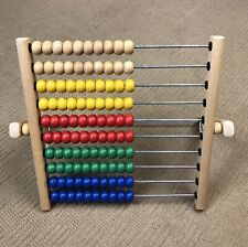 IKEA Mula Childrens Wooden Abacus Toddler Learning Maths Counting Toy