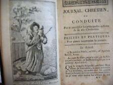 journal chrétien heures nouvelles et conduite 1807 - 4 gravures hors texte