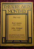 THEATRE ARTS May 1937 Fred Astaire Morton Eustis John Gielgud Earl Mohn