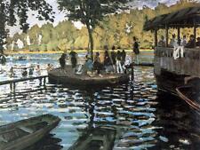 La Grenouillère, 1869 by Claude Monet Giclee Fine Art Canvas Print
