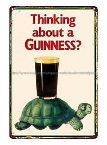 Thinking about Guinness Turtle Tortoise beer Restaurant metal tin sign