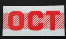 Old School 60's, 70's RED/WHITE Vinatge Style CALIFORNIA MONTH STICKER. OCT