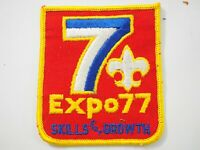 Boy Scouts America BSA Expo 77 Skills for Growth Cloth Patch 1977
