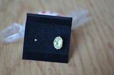 SINGLE EARRING ~ 0.63ct Green Yellow Chrysoberyl GIL Certified  Sterling Silver
