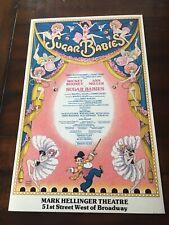 SUGAR BABIES Original Sugar Coated LTD EDITION BROADWAY WINDOW CARD POSTER