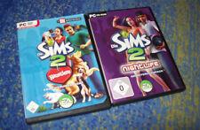 2 x Die SIMS 2 -  Nightlife und Haustiere das Erweiterungen Paket für PC Addons