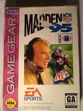 MADDEN 95 SEGA GAME GEAR MADDEN 95 GAME GEAR USA