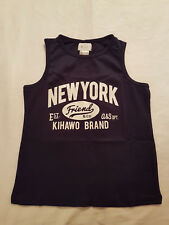 "Boys Navy ""New York"" Slogan Vest Top Vertbaudet size 6 years BRAND NEW WITH TAG"