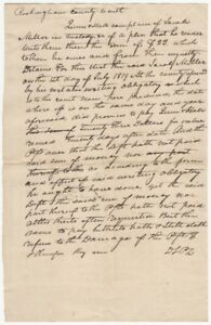 1820s Handwritten Rockingham County Court Complaint for Nonpayment of $23 Debt