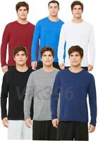 NEW QUALITY ALL SPORTS MEN'S PERFORMANCE TRIBLEND LONG SLEEVE TEE T-SHIRT