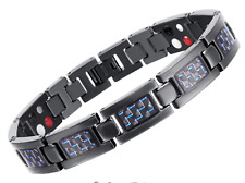 Black Titanium Magnetic Energy Men's Health Benefit Bracelet