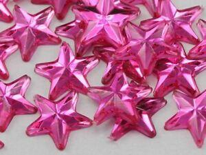 25mm Star Rhinestones Embelishments Flat Back Acrylic Plastic Cosplay Gems 15Pcs