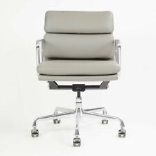 Herman Miller Eames Soft Pad Aluminum Group Chair Light Gray Leather 2011-2013