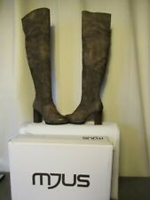 bottes cuissardes mjus cuir de suède taupe vieilli pointure 36