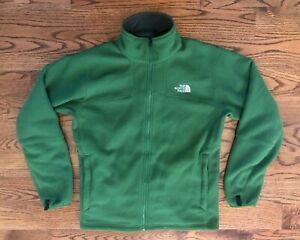 The North Face Fleece Lined Full Zip Green Jacket Men's Large