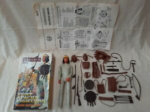 Marx Johnny West Geronimo figure, complete original set, in box, instructions.