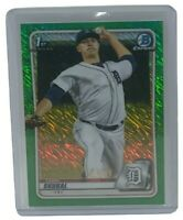 Tarik Skubal 2020 Bowman Chrome Green Shimmer Refractor /99 Rookie Card